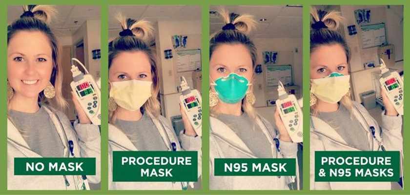 Examples of how to correctly wear a mask