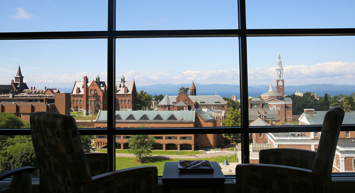 View of UVM Campus from birthing center