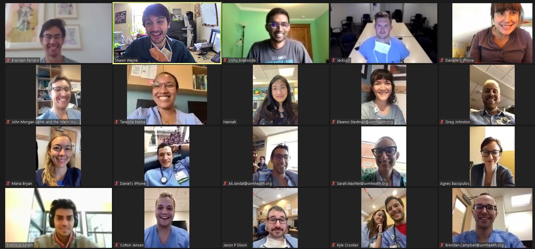 Zoom Call Group Photo