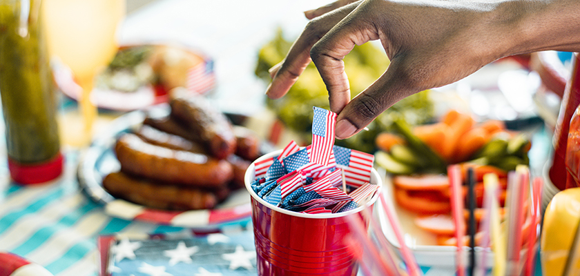 4th of July themed picnic table.