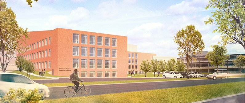 Architectural rendering of the Firestone Research Building