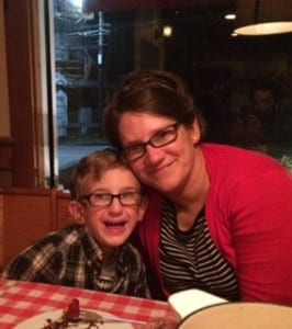 Amy Cohen and her son Noah Cohen, a patient at The University of Vermont Children's Hospital.