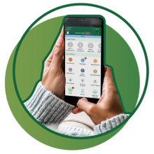 Mobile device open to MyChart app