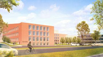 Rendering of the UVMH Research building