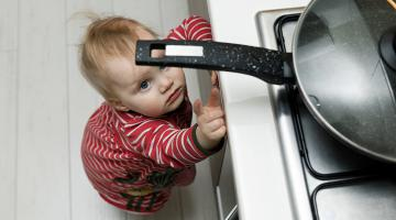 Toddler Reaching for the Stove