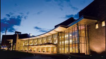 UVM Medical Center Exterior Night